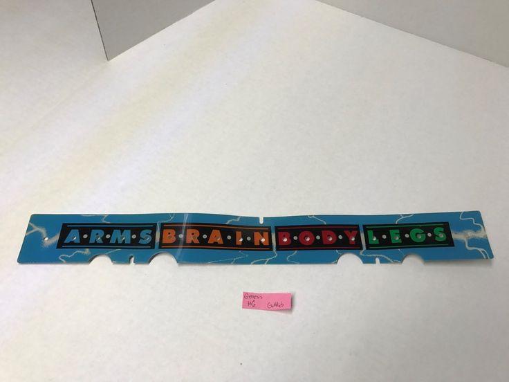 Genesis Gottlieb Plastic Playfield Pinball Parts Part Used #6 Backglass Header
