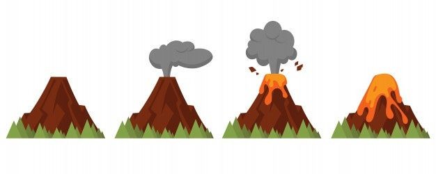 15+ Animated Erupting Volcano Clipart