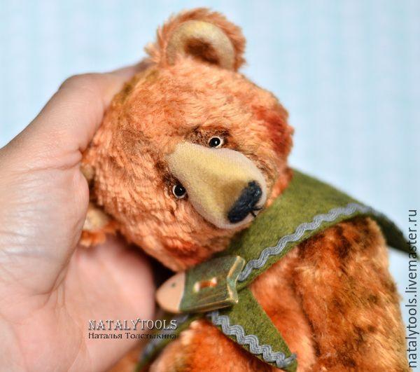 """Купить мишка тедди """"Любитель хорошей рыбалки"""" коллекционный авторский медведь - кремовый, мишка"""