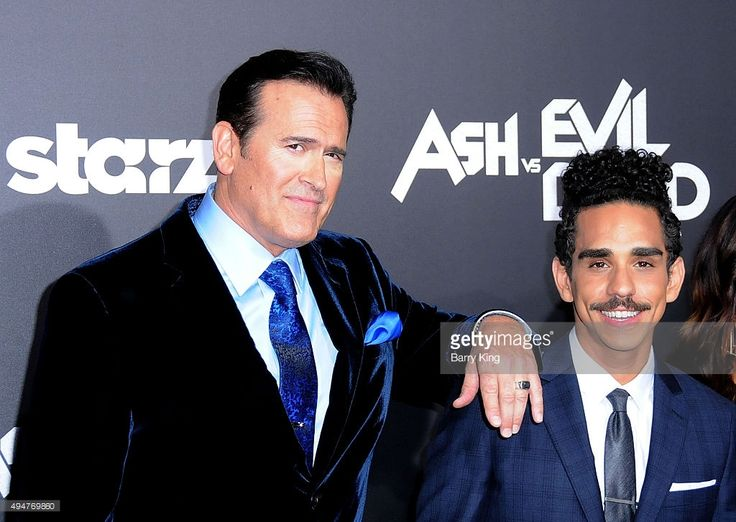 Actors Bruce Campbell and Ray Santiago arrive at the Premiere of STARZ's 'Ash vs…
