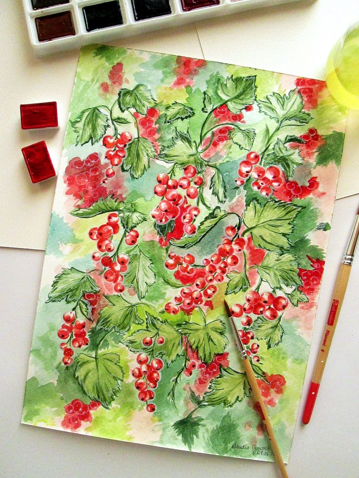Watercolor painting by Klaudia Cymorek