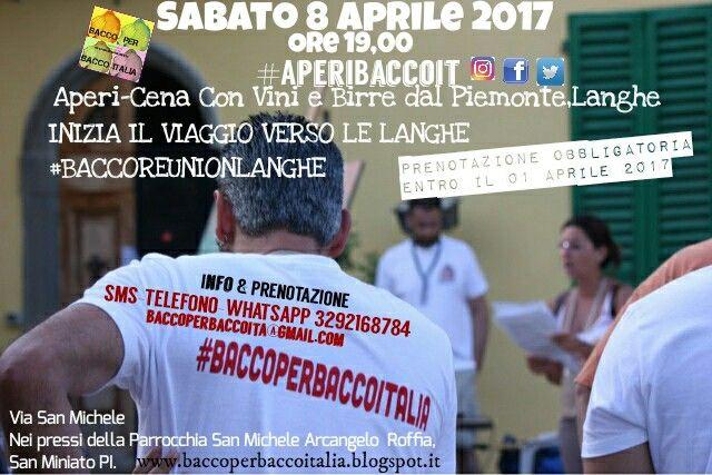 San Miniato PI, DEGUSTAZIONI DI VINI E BIRRE DALLE LANGHE #APERIBACCOIT