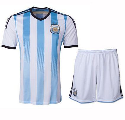 Argentina national team 2014 HOME SOCCER JERSEY KIT [1402291605]