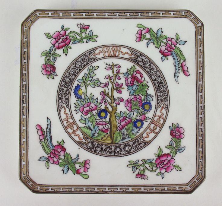Square Trivet Coalport Indian Tree Vintage England Multicolored | eBay