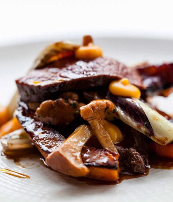The most complicated part of this venison with butternut squash recipe will be procuring the four starring ingredients - treviso lettuce, butternut squash, venison and girolles. - Andy McLeish