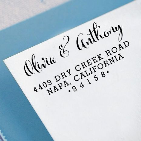 Personalized Rubber Stamps For Wedding Invitations