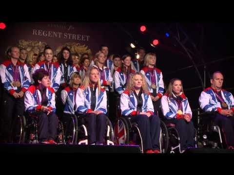 On 13 November 2012, the Regent Street Christmas lights were switched on by Team GB and ParalympicGB athletes for the final gold moment of 2012.