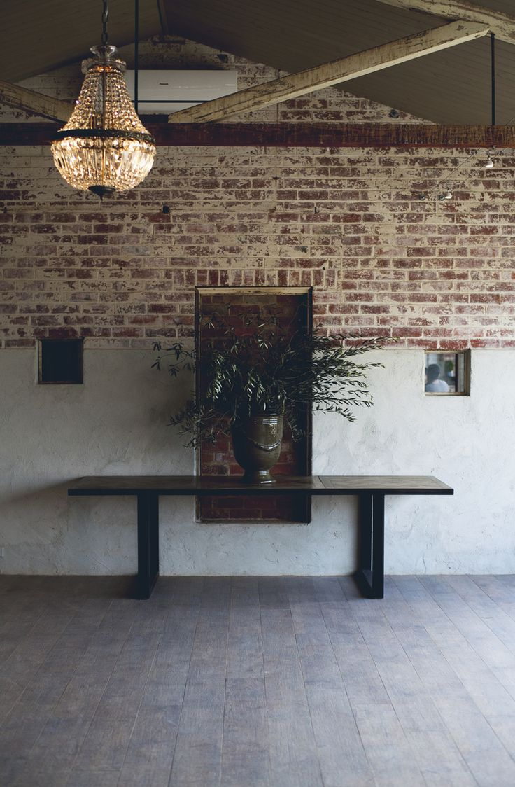 A blank canvas for your next conference or function #conference #function #events #rustic #brickwall #rustic #meletos #yarravalley