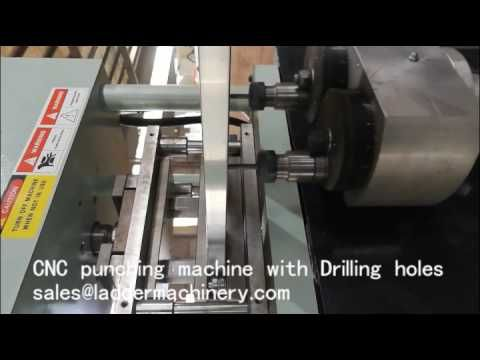 CNC punching Machine with Drilling holes for the triple extension ladder