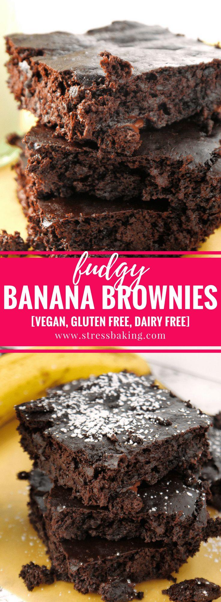 Fudgy Banana Brownies Pinterest