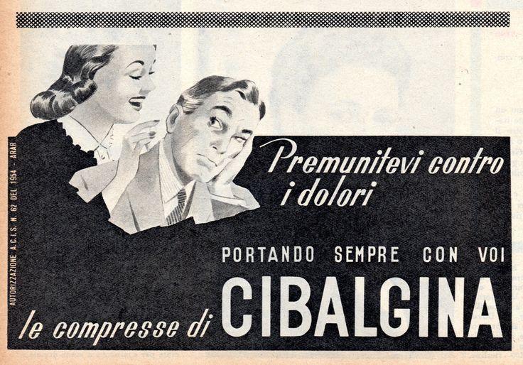 CIBALGINA - medicinale - cm 16x11 (Grazia 1955)