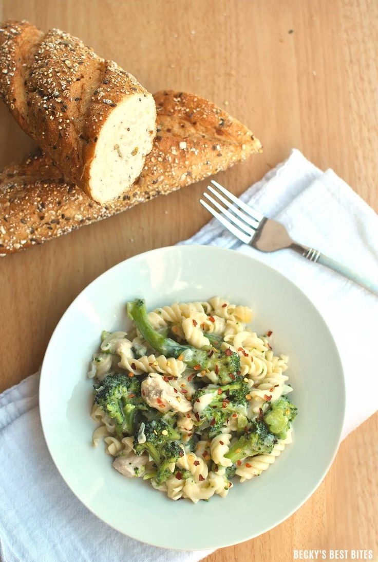 Guiltless-Chicken-Alfredo-with-Broccoli