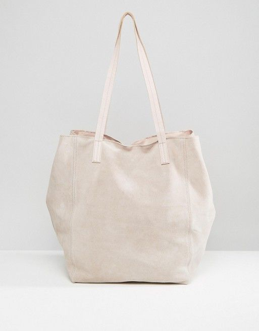 ASOS Suede Slouch Shopper Bag
