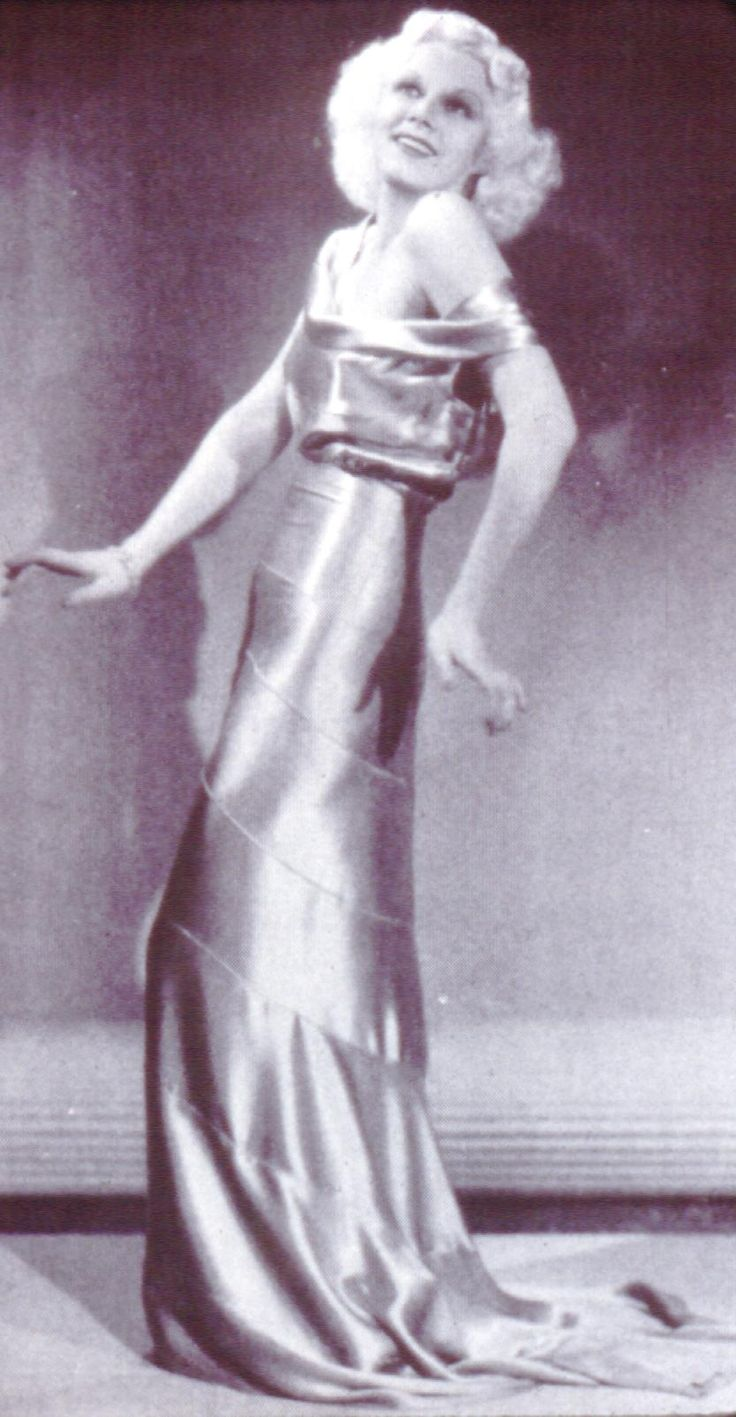 Fashion 224 1930's: Dresses Cut, Evening Dresses, Blondes Hair, Fashion 224, Backless Dresses, Style Icons, Hollywood Fashion, Jeans Harlow, 1930 Dresses