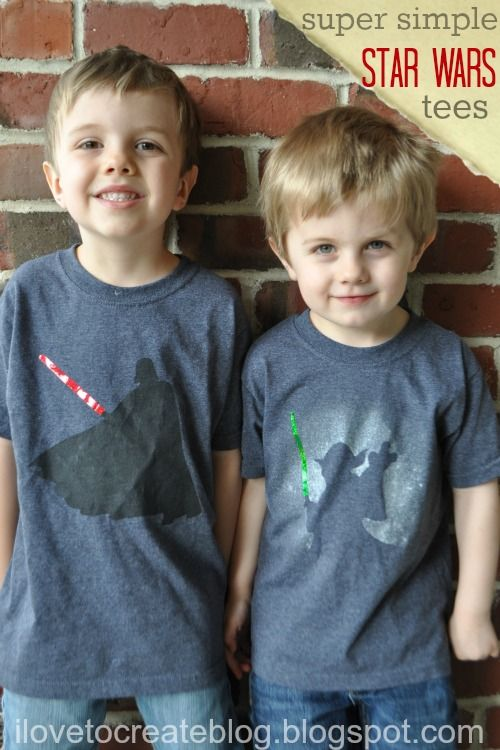 DIY star wars t-shirts