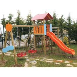 Anaokulu Yartaş Ahşap Çocuk Oyun Parkı