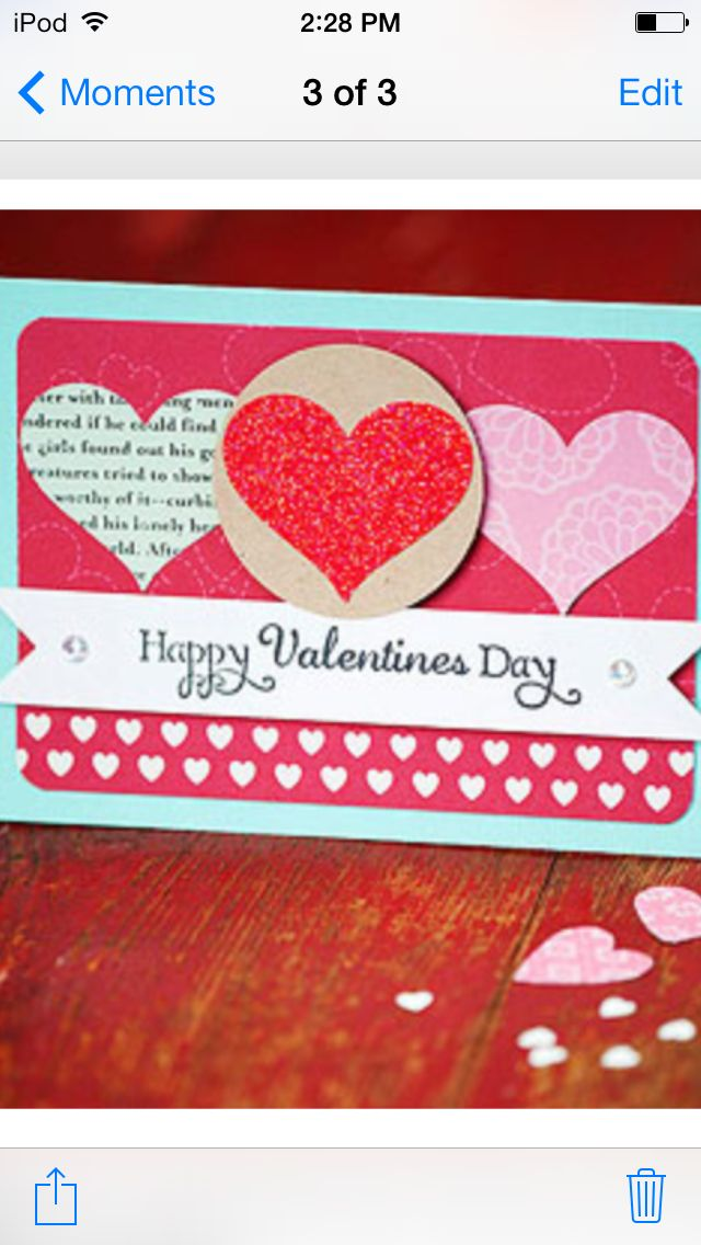 Simple Handmade Valentines Day Card Idea Multiple Hearts Message