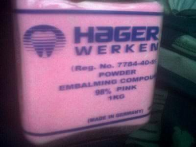 Pink and white hager werken liquidand powder for sale, call 0787547636 We are the leading suppliers of Germany madeembalming compound to clients in South Africa and other African states. This isa typically embalming compound (fluid) contains a mixture of formaldehyde,methanol, and other solvents. The formaldehyde content generally ranges from 50to 97 percent and the methanol content may range from 9 to 89 percent.Book an order at  27787547636, you call whatsapp as well.
