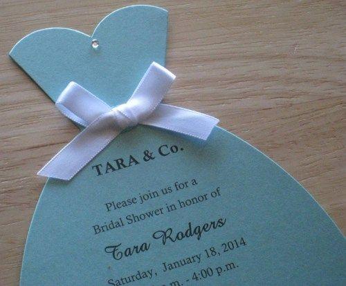 Tiffany & Co. Inspired Bridal Dress Bridal Shower Invitations | Keepsakeimprints - Cards on ArtFire