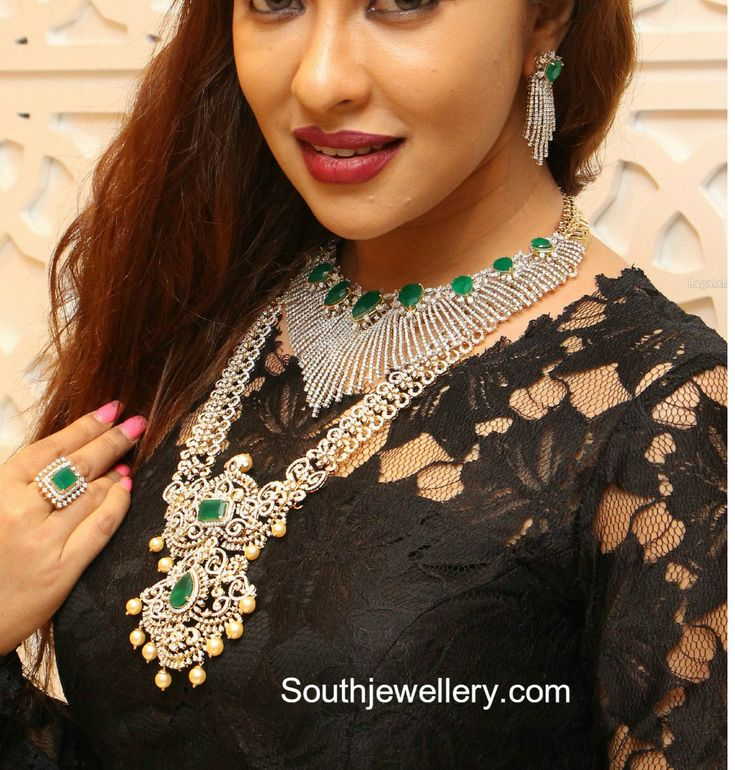 Payal Ghosh in Manepally Diamond Jewellery
