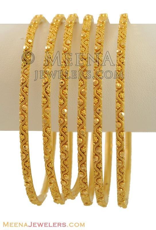 22K Gold Bangles (2 Pcs only) ( Set of Bangles )
