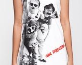 One Direction Shirt 1D Detection Tank Top Women Shirts White Shirt Tunic Top Vest Sleeveless Women T-Shirt Size S M