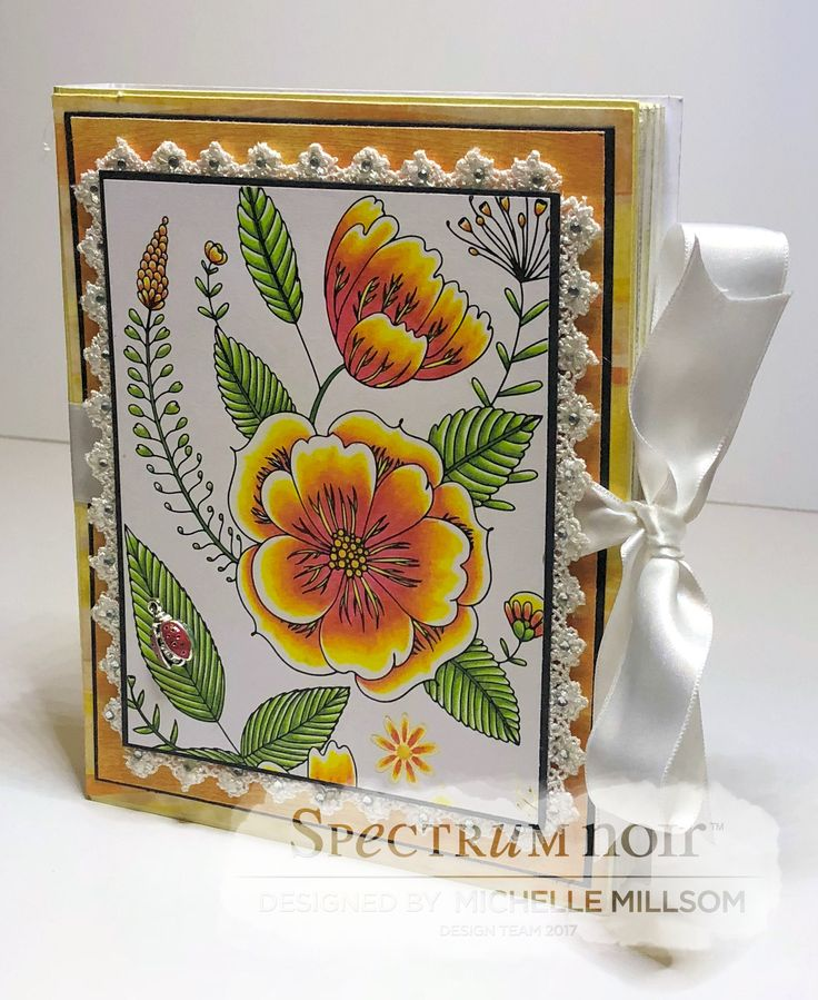 'Book' Gift Box. Designed by Michelle Millsom. Colourista A4 Foiled Pad - Natural Beauty. Colourista Pencils - All Packs.