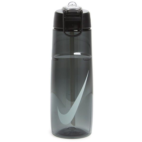 Nike 'Flow Swoosh' Logo Water Bottle (19 AUD) ❤ liked on Polyvore featuring home, kitchen & dining, serveware, leak proof water bottle, leakproof water bottle, nike, dishwasher safe water bottle and bpa free water bottles