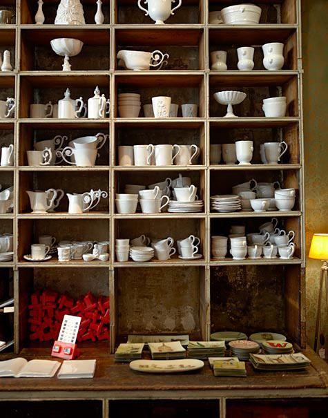 Shop - Astier de Villatte. 173 rue Saint-Honore, Paris.