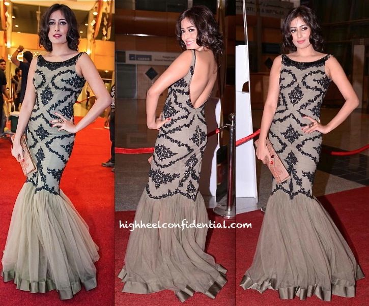 Nidhi Subbaiah in Rocky S creation at #SIIMA Awards 2013