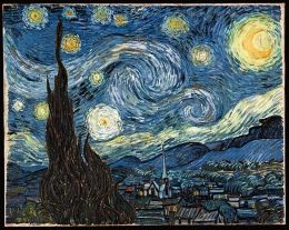 Vincent van Gogh - The Starry Night  From: Elias MuukkonenArtists Atozchalleng, Gogh Starry, Night Interactive, Vincent Vans Gogh, Challenges Letters, Van Gogh, Interactive Animal, Night Vans Gogh, Starry Nights