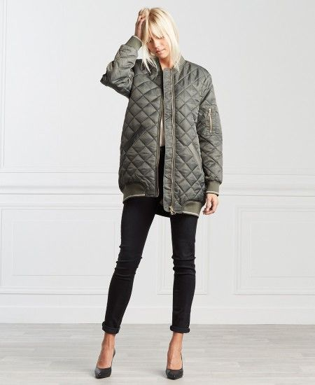 Blouson long kaki One Step