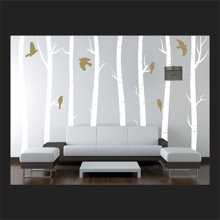 34 best images about dirty laundry hung out to dry on for Beautiful birch tree wall mural