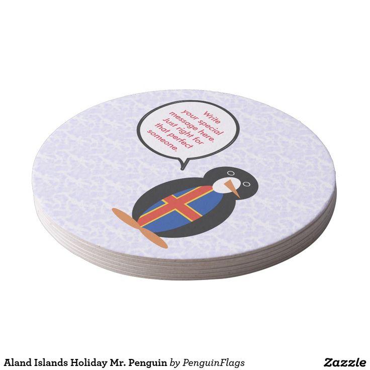 Aland Islands Holiday Mr. Penguin Paper Coaster