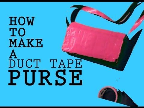 How to make a Duct tape Purse - http://www.ducktapesale.com/how-to-make-a-duct-tape-purse-4/