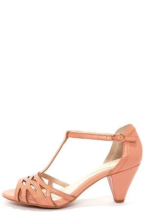 Purchased! ♥ ♥ ♥  Seychelles Everybody Dance Peach Kitten Heels at LuLus.com!