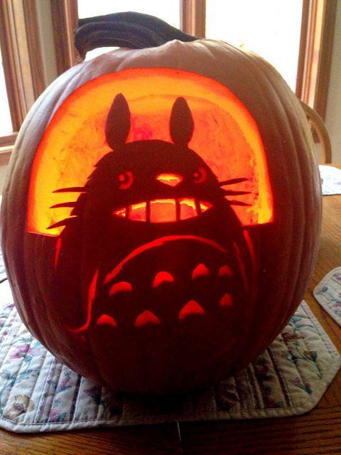 My Neighbor Totoro pumpkin by PipeFox410, via Flickr