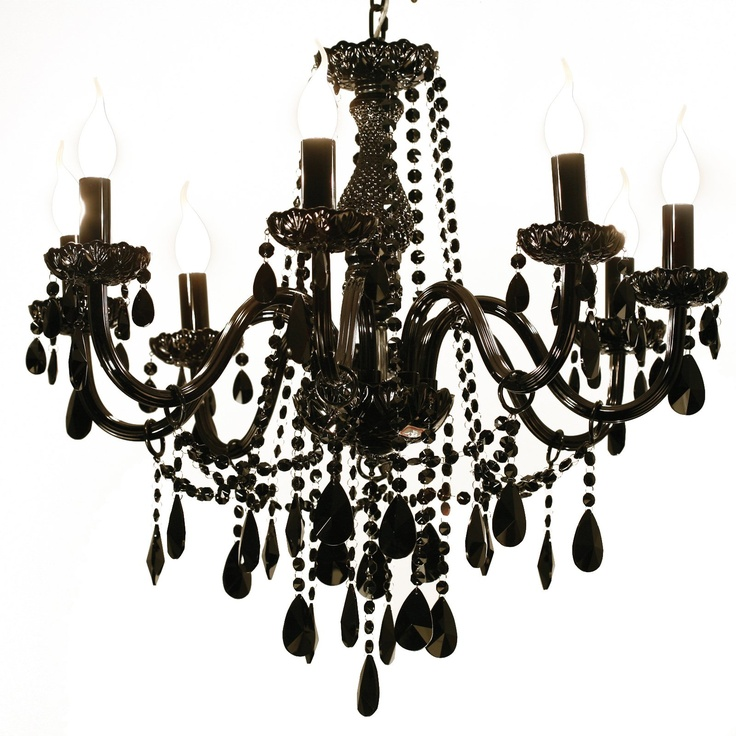 Chic Tailor Made Chandeliers That Shine With Elegance: Black Gothic Chandelier.