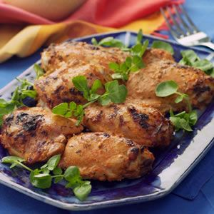 Turkish chicken thighs with lemon, yogurt, garlic, ginger, paprika, and mint - Eating Well. http://mobile.eatingwell.com/recipes/turkish_chicken_thighs.html