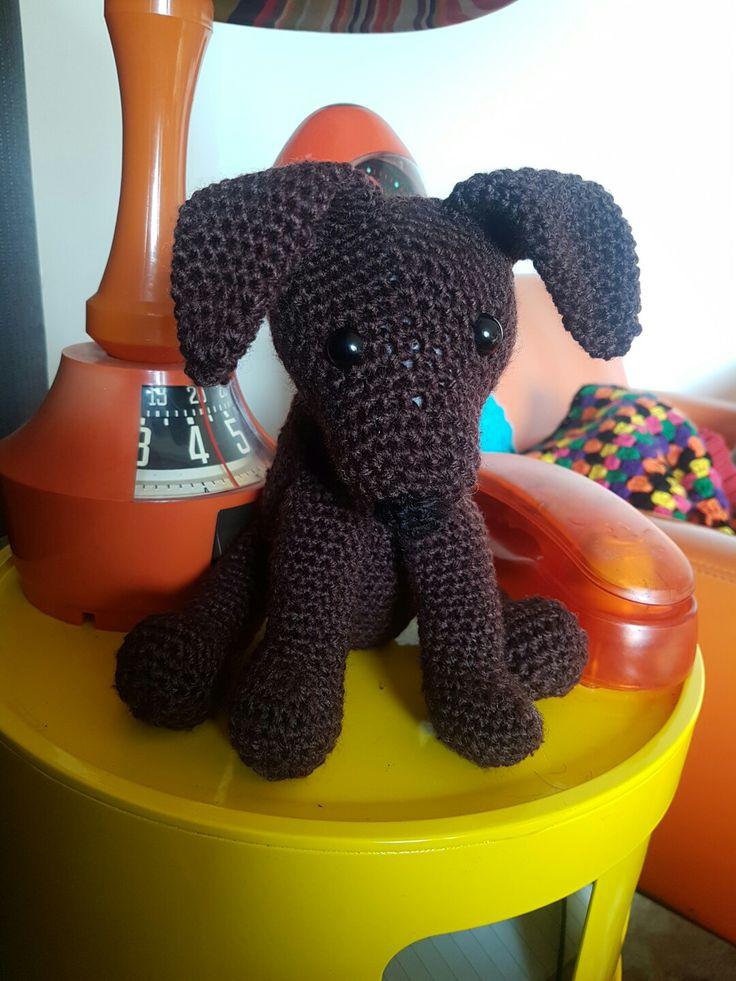 Ari the Chocolate Labrador  #dirtygrannycrochet #crochet #crochetdog #labrador