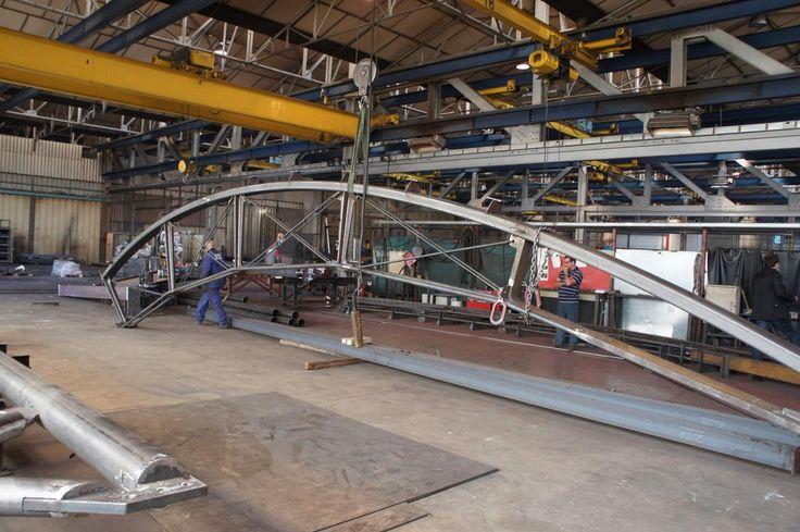 Gare de Montpellier Saint Roch - fabrication d'une ferme - usine Gagne - Arep / MaP3 - 2012