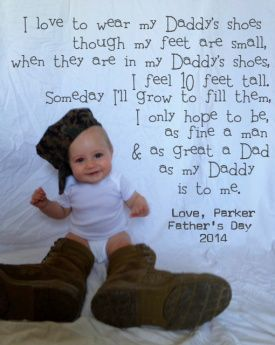 DIY USMC Father's Day Photo Gift! Use your hubby's shoes and recreate this gift for under $2.00!