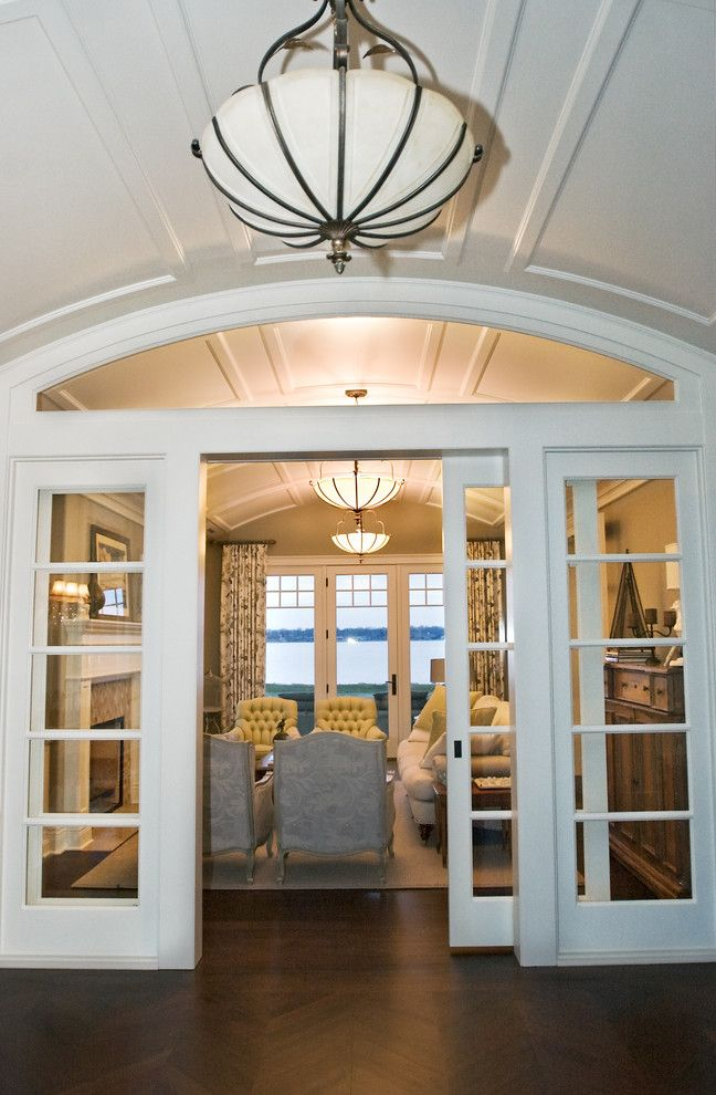 Family Room Remodel Interior French Door With Transom