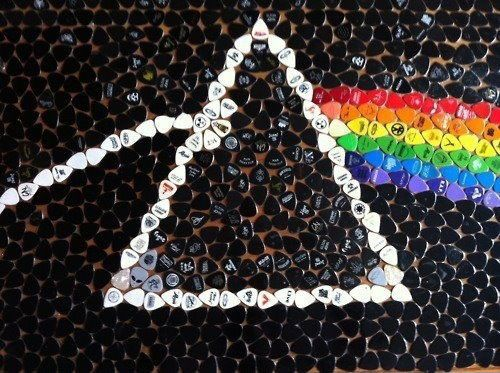Guitar picks art - Tribute to Pink Floyd