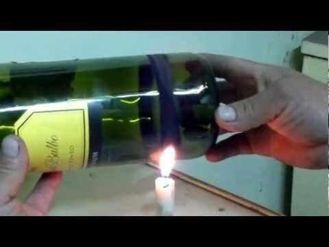 como cortar botellas de vidrio version mejorada - YouTube