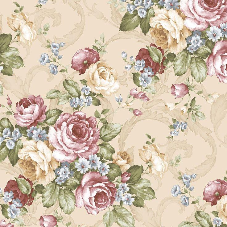 Norwall CH22529 Grand Floral Wallpaper - - Amazon.com