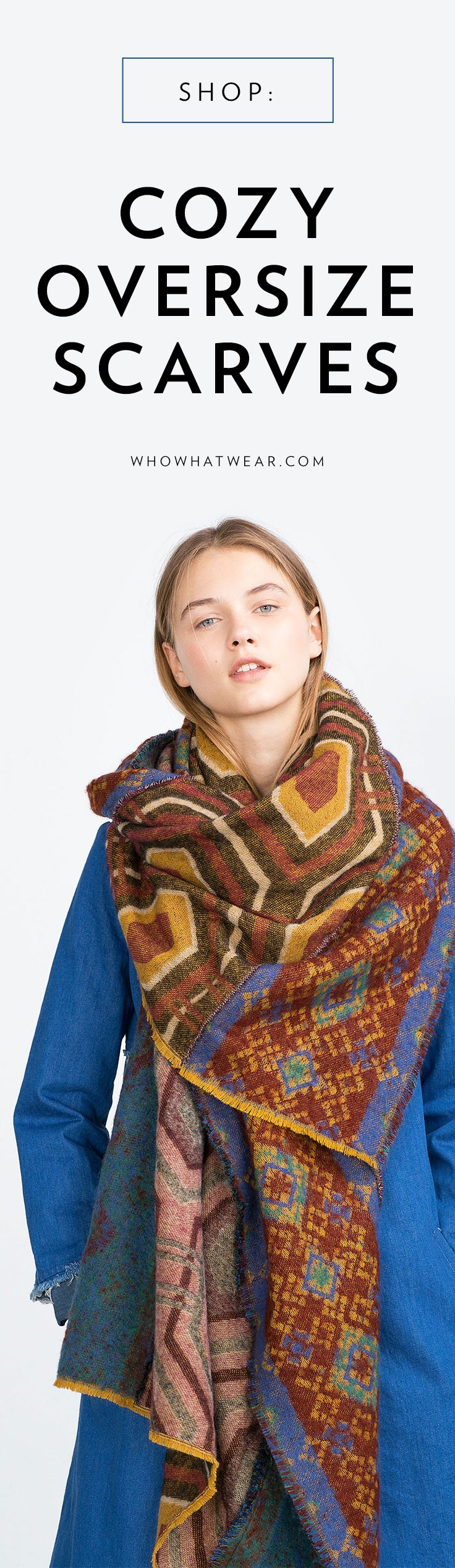 Warm scarves that can act as an accessory, blanket, and more!
