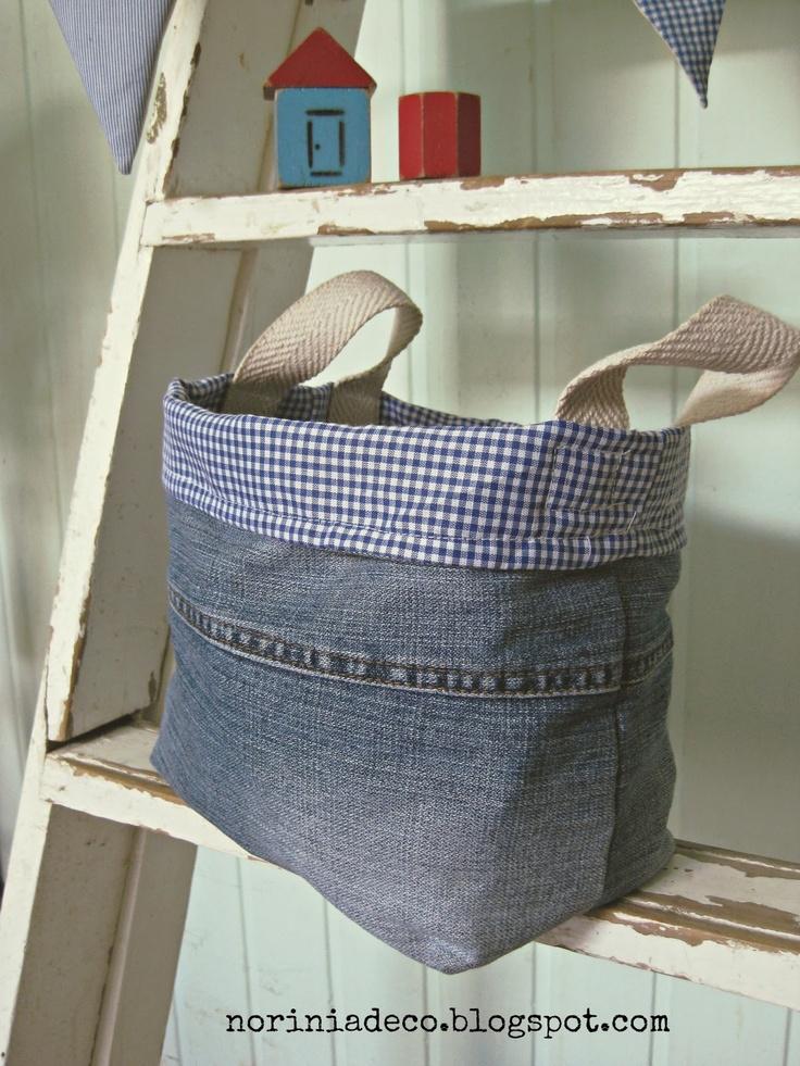 Fabric Basket-  noriña , deco artesanal