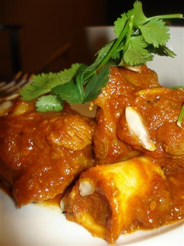 Rogan Josh - Lamb knuckles in a delicious curry.