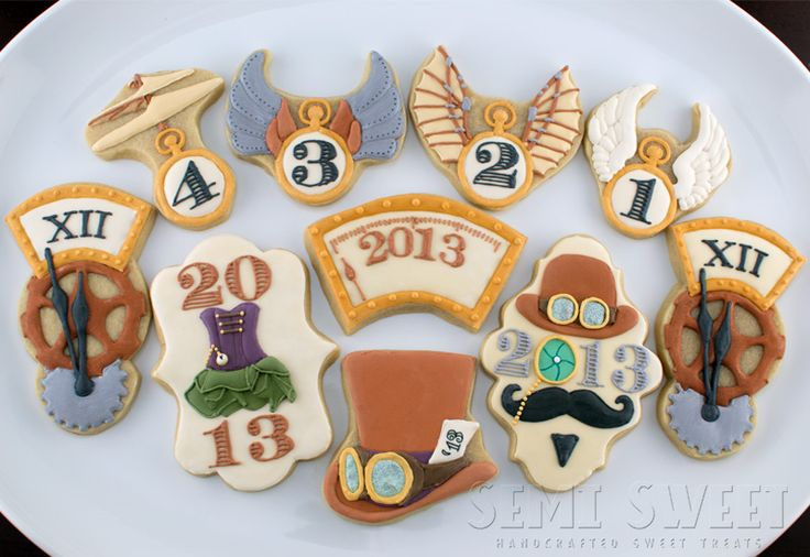 steampunk new years eve cookies